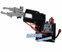 Free shipping  3 degree of freedom robotic arm with a base complete steering gear bracket accessories