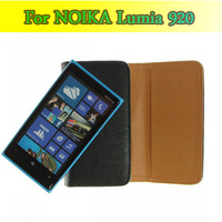 Mobile Bag For Nokia Lumia 920,Free shipping flip Belt Clip Holster Holder leather hard case cover wallet for NOKIA Lumia 920