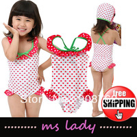 Girls bathing suit Kids swim suits Children swimwear baby swimming wear Free Shipping HK Airmail
