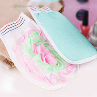 Shower high quality bathwater scrubbing gloves bath gloves b579