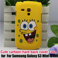 For Samsung Galaxy S3 Mini i8190 cute cartoon Matte Hard Case Cover ,free shipping