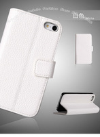 For iPhone 5 5G Newest Litchi stria PU leather case, sturdy and durable Perfect Fit ,Free Shipping DHL Free 50pc/Lot