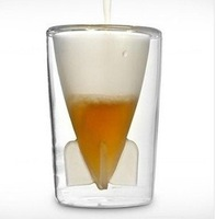 8pcs/lot EMS Free Shipping Creative missile beer stein Wineglass Double glass beer cup 400g