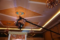 1000 cm /33 ft camera crane, video crane, jib crane with motorized pan tilt head for 10 kg bearing