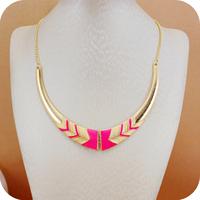 On0128 fashion accessories vintage short design female necklace neon color necklace