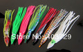 Free shipping 25pcs 12cm/mixed color soft fishing lure Octopus plastic lure 5pcs in a package