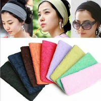 Free shipping 12pcs/lot Women Fine Fleece Cloth Stretchy Elastic Headbands Hair Bands Headwear Hair Accessories