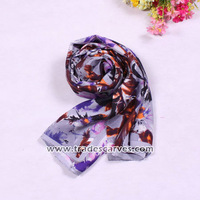Wholesale charm colorful long silk shawl for lady