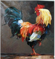 """Handcrafts Art Oil Painting On Canvas: Rooster 20""""x24"""" inch"""