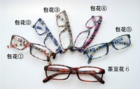 Retail 1pcs colorful fashion reading glasses accept mixed color order, power from +1.00 to +4.00