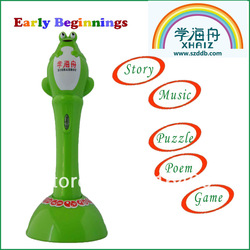 Free Shippng New Arrival Discount Kids Point Reading Pen Chinese/English language Translate Music Game Poems Multfunction(China (Mainland))