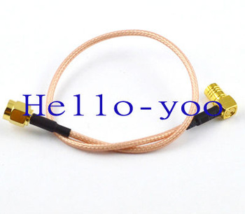 Free shipping 10pcs/lot SMA male to SMB female connector adapter pigtail cable Extension Cord RG316 15cm