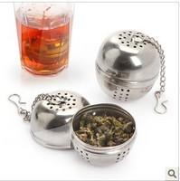3 pcs/pack Stainless Steel Mesh Ball Reusable Stainless Strainer Tea Filter 2573 (KA-18)