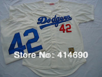 Free Shipping Wholesale&Retail Los Angeles Dodgers Jersey#42 Jackie Robinson Throwback Baseball Jersey Embroidery Logo Mix Order