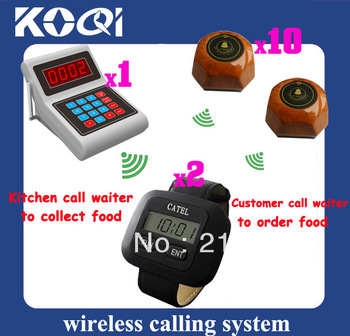 Restaurant Wireless calling system Call Waiter System Client Call waiter to order Cook Call Waiter to pick up order DHL/EMS Free