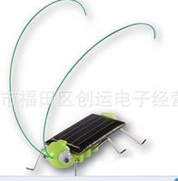 10pcs/lot Solar Grasshopper, Green gift, Solar Powered bug,Solar Gift ,Funny Toys, Crazy Cricket
