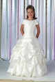 Free Shipping New Arrival Cap Sleeve Beaded Pleated Taffeta Flower Girl dress Custom-size/color wholesale/retail T2-0029
