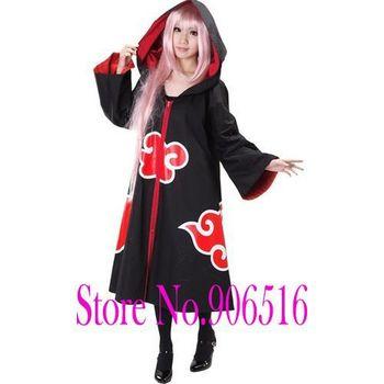 Naruto Uchiha Sasuke eagle team Cosplay Costume cloak free shipping