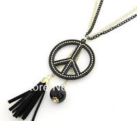 The classic peace tassel pendant Double Long Necklace Mao Yilian