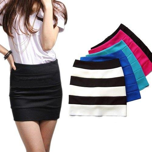 S5Y HOT Women Girls Ladies Slim Zip Bodycon Bandage Womens Mini Short Skirt 6colors(China (Mainland))