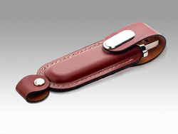 Free Shipping Business Leather USB Flash Stick 4GB 8GB 16GB 32GB 64GB - Brown(China (Mainland))