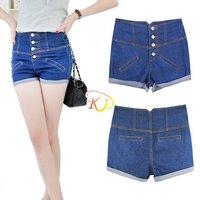S5Y Fashion Joker Cute Girls Womens Denim High Waist Hot Pants shorts Blue S M L