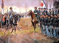 "Handcraft Art oil painting on Canvas:American Civil War 24""x36""inch"