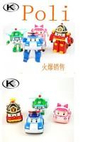 4pcs/lot Robocar poli.poli transforming robot 4 models
