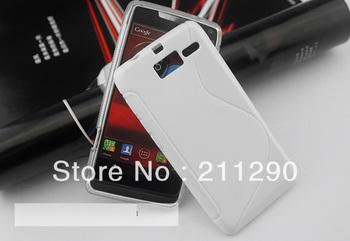 S line wave TPU gel soft case cover For Motorola RAZR i XT890 Free shipping 60pcs/lot