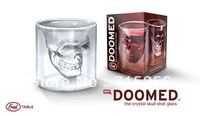 12pcs a lot for VIP Buyer!! Doomed Crystal Skull Shot Glass Crystal Skull Head Vodka Shot Wine Glass Novelty Cup