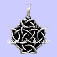 free shipping Fashion alloy antisilver celticnemetos necklace pendant