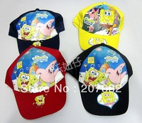 Free Shipping ! Hot Sale Spongebob Cartoon Cap Children Sun Hat A2110 On Sale Wholesale & Drop Shipping