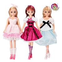 New arrivals 3 pieces/lot LEJIA L8889 dream cosmetic doll cloth princess girl toys