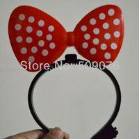 Free shipping 10pcs/lot red pink blue purple yellow led flashing hair clip Flash shine bowknot hairpin novelty decoration
