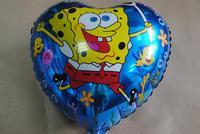 PT0055 Amusing SPONGE BOB TV Show Balloon, Child Birthday Party Foil Balloon, 10pcs/lot, free shipping