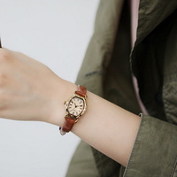 New 5 colors Vintage Ladies Watch Cow Leather Wrist Watch Fashion Quartz Watch Free Shippng