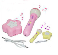 free shipping,baby children microphones, portable speaking trumpet sing dance toys, with accompaniment music light