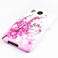 FLOWER SOFT GEL TPU SILICONE CASE COVER FOR HTC DESIRE HD G10 FREE SHIPPING