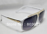 Free Ship Promotion Men Women EVIDENCE sunglasses Millionaire Sun Glasses Black White Sunglass with Box tag cloth