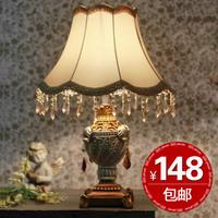 Fashion vintage lighting bedroom lamps ofhead luxury resin decoration lamp