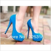 Free shipping shoes women fashion brands High heels fashion star platform princess ladies sexy 2013 blue for ladies