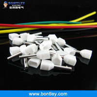 Free Shipping TE7510 2 X 20 AWG White Twin & Dual Entry Wire & Bootlace Ferrules For 2 X 0.75mm2, 8mm of Pin Length