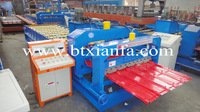 Botou supplier factory direct hot sale automatic IBR color glazed aluzinc roofing cold roll forming making machine