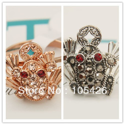 Min.order is $10 (mix order), toad finger ring +rhinestone ,Party supplies,Lucky ring,free shopping(China (Mainland))