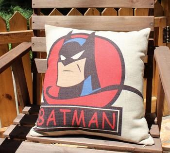 home cushion, linen pillow,  nordic style, IKEA, cotton cushion, batman