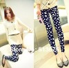 Free shipping new summer and spring fashion thin large pentacle star nine points Leggings Spring female leggings