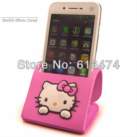 Hello Kitty Mobile phone Stand Silica gel soft mobile accessary Phone protecter 10pcs/lot 1476