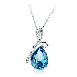 Fashion angel tears crystal alloy pendant necklace(China (Mainland))