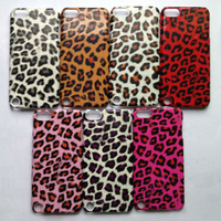 10pcs/lot, Free shipping, Leopard Pattern Skin Cover Hard Plastic Case For Ipod Touch 5, Leopard Skin Case For ipod touch 5