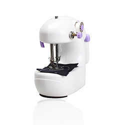 Free Shipping Mini Electric Household Sewing Machine Hand Held Single Sewing Tool(China (Mainland))